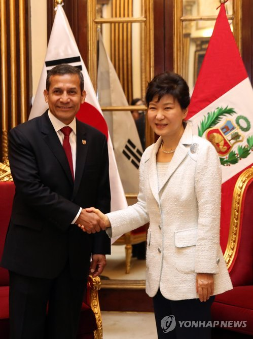 S. Korea, Peru vow to cooperate in trainer jet project