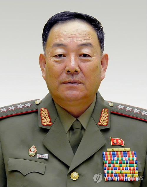 North Korean Defense Minister Hyon Yong-chol is believed to have been executed on charges of treason, according to South Korea`s main spy agency, the National Intelligence Service. The photo shown is Hyon`s official ID photo. (Yonhap)