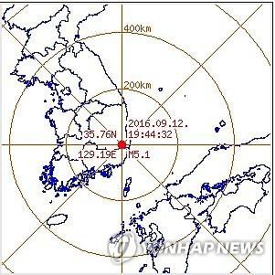 gempa korea (saungkorea.com)
