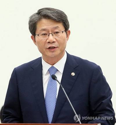 Le ministre de l`Unification Ryoo Kihl-jae