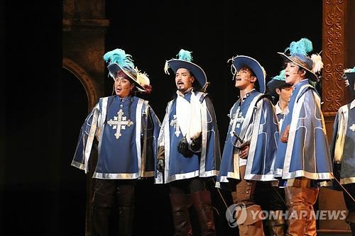 ミュージカル「三銃士」=(聯合ニュース) ミュージカル「三銃士」=(聯合ニュース) 公式サイトに