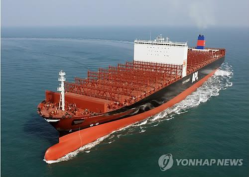 韓国造船会社が製造した船舶=(聯合ニュース)
