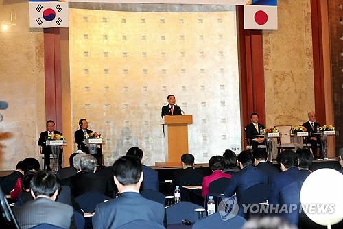 総会の開会式で祝辞を述べる韓国の鄭ホン原(チョン・ホンウォン)首相(国務総理室提供)=25日、ソウル(聨合ニュース)