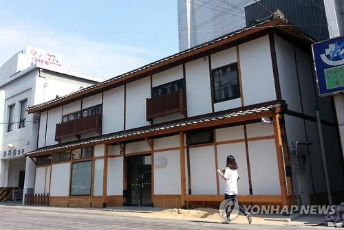 8月にオープンする「ヒウム日本軍慰安婦歴史館」=24日、大邱(聯合ニュース)
