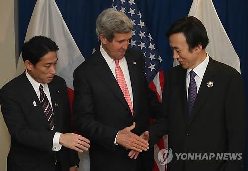 (右から)韓米日の外相(資料写真)=(聯合ニュース)
