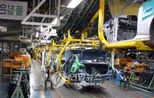 自動車生産工場(資料写真)=(聯合ニュース)