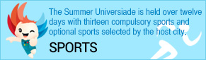 The Summer Universiade is held over twelve days with thirteen compulsory sports and optional sports selected by the host city.