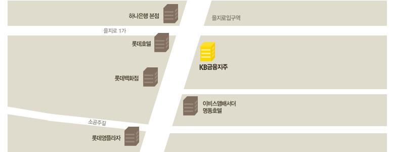 서울 지하철 2호선 을지로입구역 6번 출구에서 직진 후 약 100미터 지점에서 왼쪽에 위치