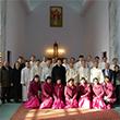 평양 장충성당 찾은 한국천주교주교회의 방북단