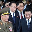 <아시안게임> 호텔 나서는 북한 고위직들