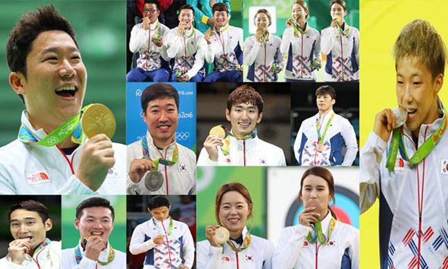 メダル獲得ランク 金9個で韓国8位=リオ五輪