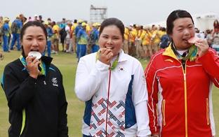 ゴルフ五輪の朴仁妃「力使い果たした」 けが克服し頂点へ