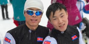 وفد المنتخب البارالمبي الكوري الشمالي يدخل قرية الرياضيين في بيونغ تشانغ