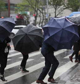 首尔风雨大作