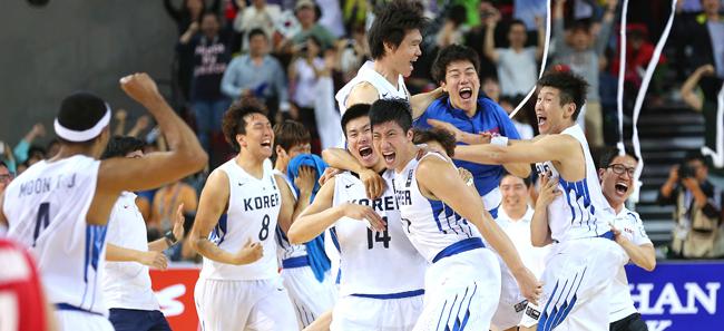 亚运会男子篮球决赛 韩国战胜伊朗时隔12年再夺冠