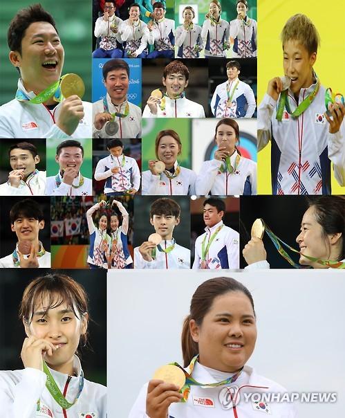 奥运落幕:韩国9金3银9铜居金牌榜第八