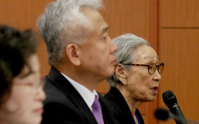 Outspoken victim protests S. Korea-Japan agreement on wartime sexual slavery