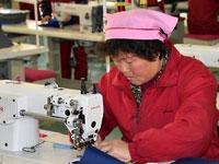 Bag factory in N. Korea