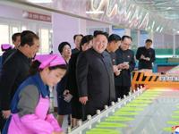 N.K. leader tours shoe factory