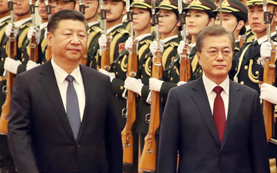 Moon calls for new start to S. Korea-China relations