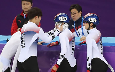 (Olympics) S. Korea finishes 4th in men's 5,000m short track relay