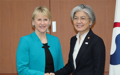 Sweden briefs South Korea on its talks with North