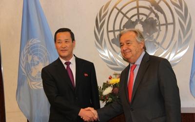 N. Korea's ambassador to U.N. begins official work