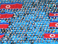 Artists sports contest in North Korea