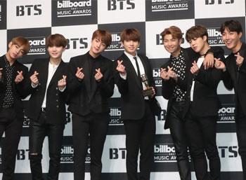 S. Korean boy group Bangtan Boys