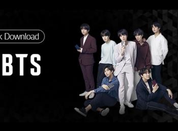 BTS with LG smartphones