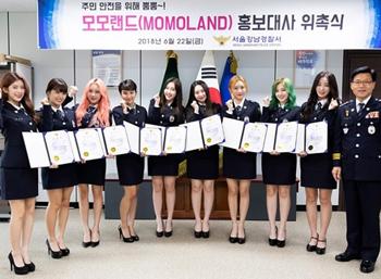 Momoland as goodwill ambassador for Gangnam police