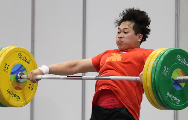 Weightlifter Park Han-woong