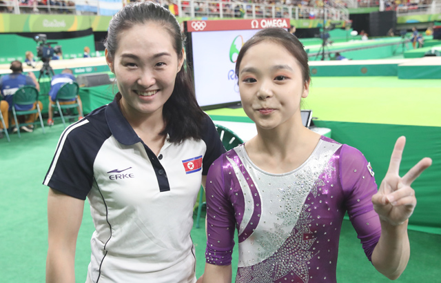 Two Korean gymnasts at Rio Olympics