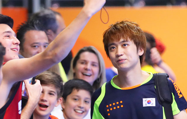 Near-upset big confidence builder for S. Korean table tennis player