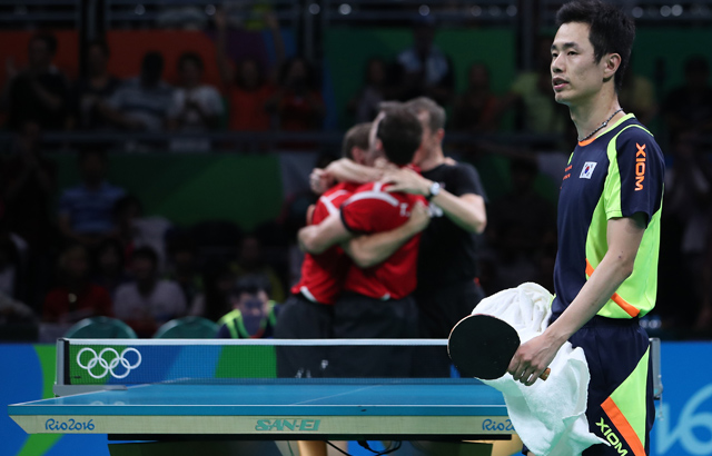 S. Korea loses to Germany in table tennis