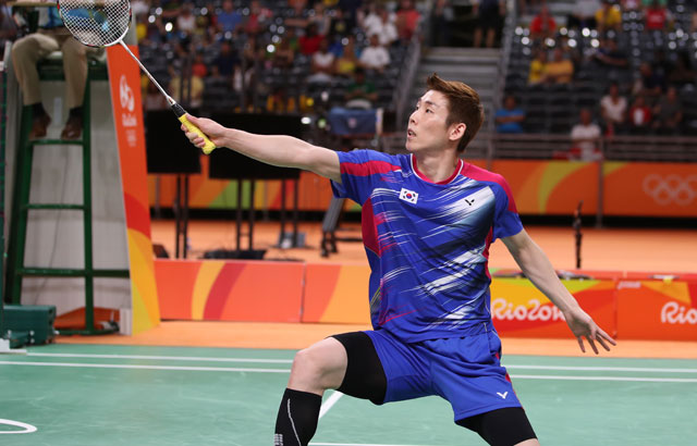 Son Wan-ho loses in badminton men's singles