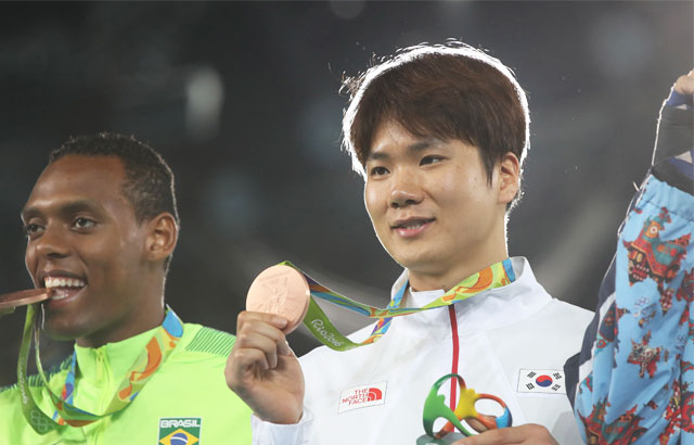 Taekwondo medalist grateful for bronze at final Olympics
