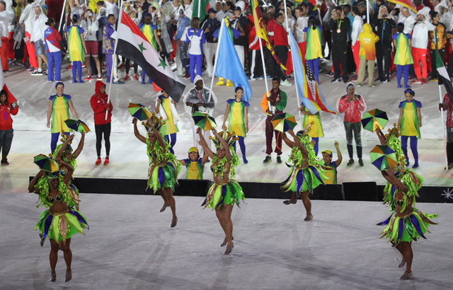 Dancers at Rio Olympics closing ceremony