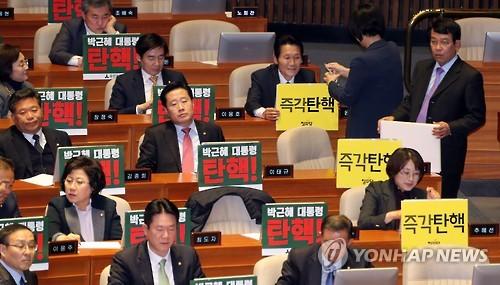 La motion de destitution de la présidente Park sera soumise au vote demain