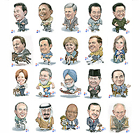 Plan de table du sommet du G20