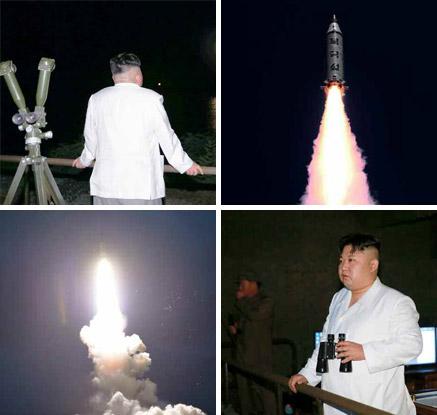 北 노동신문, SLBM 시험발사 사진 24장 공개