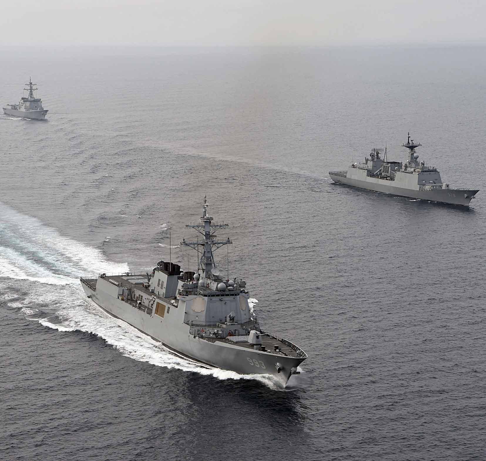 한미 연합 해군훈련