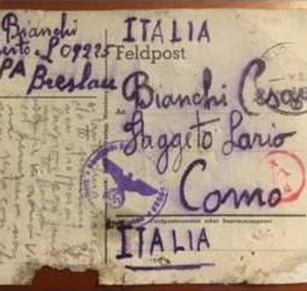 72년만에 배달된 2차대전 포로의 엽서