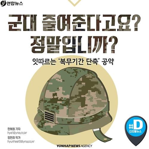 [카드뉴스] 대선 단골 공약 '군복무 단축'