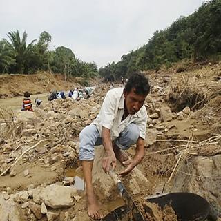 [토픽영상] 태국 시골마을, 홍수 덕에 '금맥' 터졌다