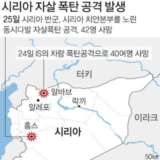 시리아 자살 폭탄 공격 발생