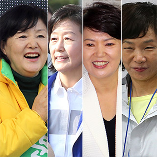 [포토무비] 대선주자 부인들의 불꽃 튀는 '내조전쟁'