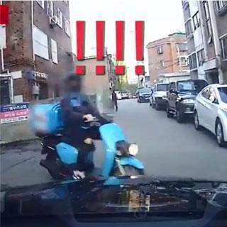 [블랙박스] 주택가 질주하는 오토바이, 대형사고 부른다