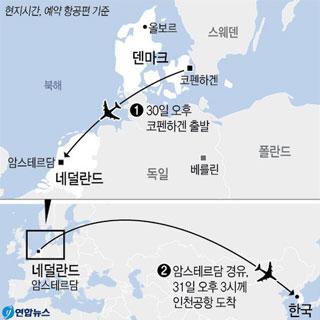 정유라, 내일 덴마크 떠나 31일 오후 입국