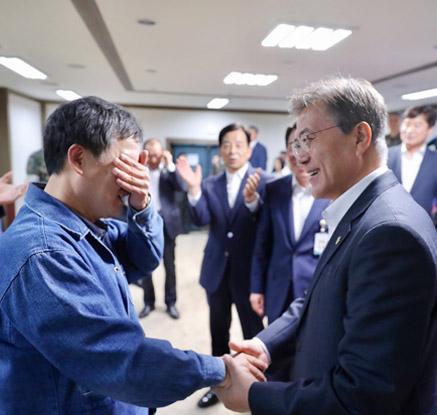 탄도미사일 '현무2C' 발사 성공 감격